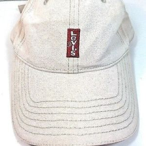 Levi's Red Tag Ivory/Bone Cotton Baseball Cap